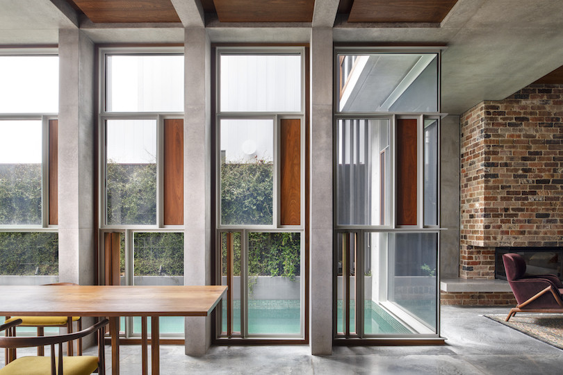 A view of the pool in the Birchgrove House by Zulaikha.