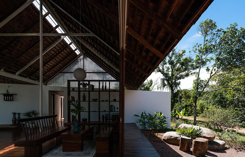 YT House Rear Studio AHO Design Studio CC Quang Dam open living space