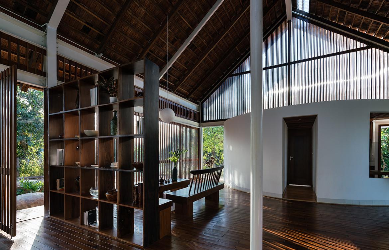 YT House Rear Studio AHO Design Studio CC Quang Dam shelving details