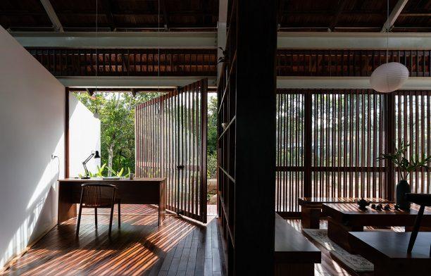 YT House Rear Studio AHO Design Studio CC Quang Dam study area