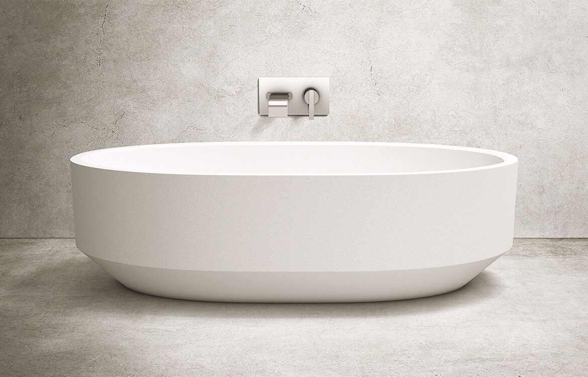 Apaiser Zen Oval Bath stand alone