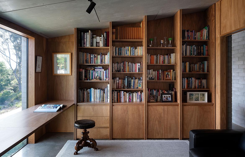 albury house bookshelf