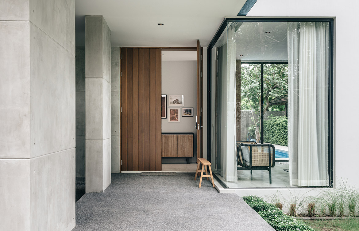 bAAN House Anonym Studio CC Chaovarith Poonphol exterior entrance details