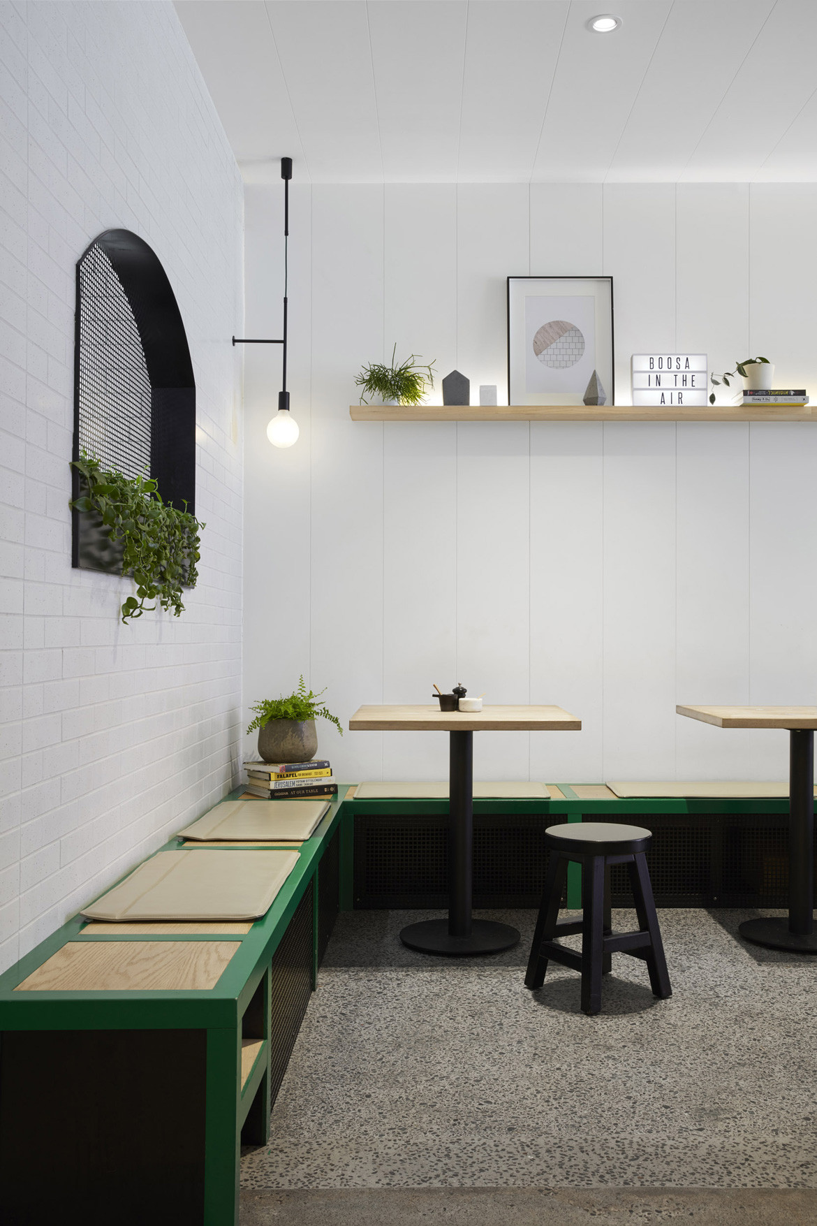Boost Cafe Photography by Peter Clarke Bench seating