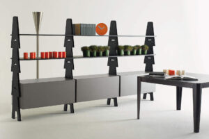 Agapecasa Cavalletto Storage System by Angelo Mangiarotti