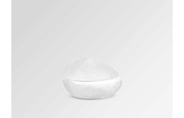 RESIN EARTH JAR - SNOW SWIRL