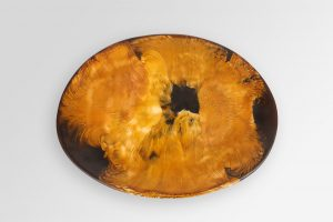 Large Resin Temple Platter 1