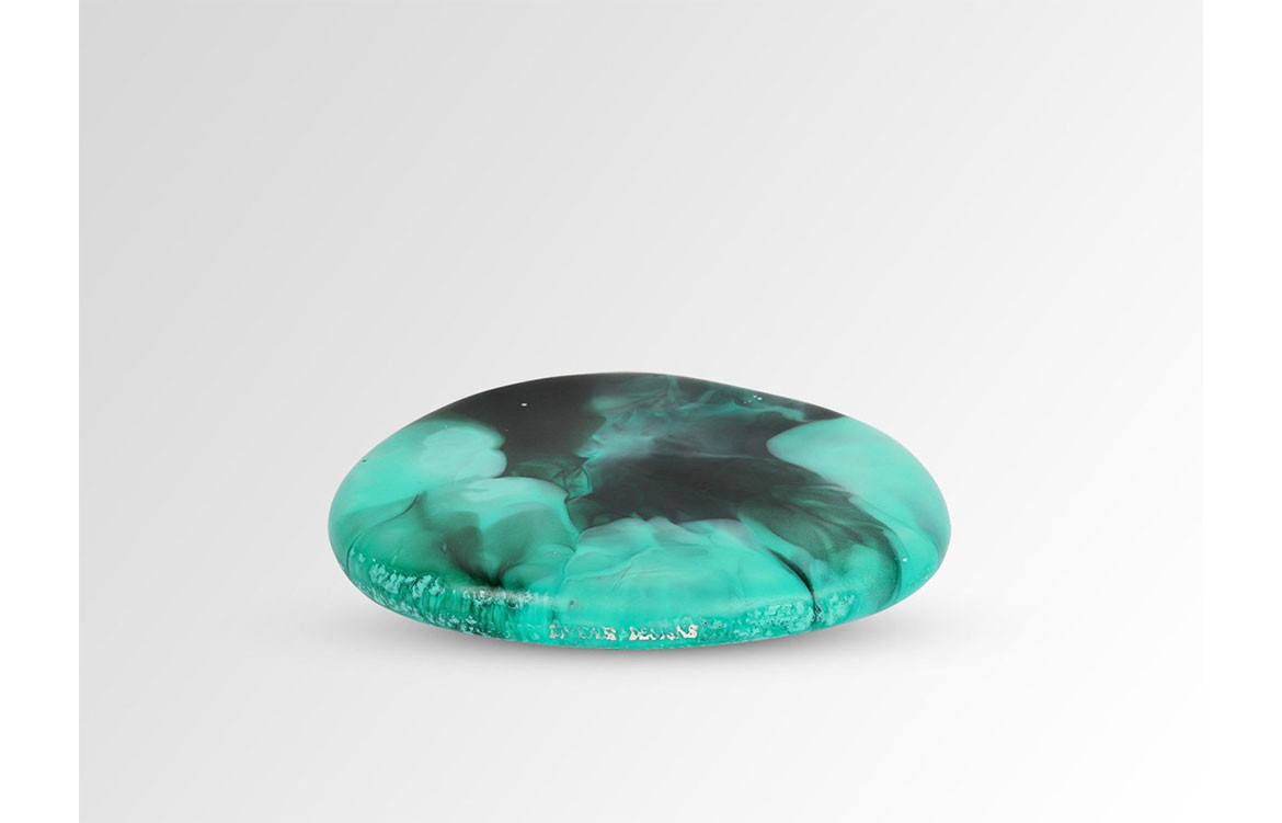 RESIN RIVERSTONE BUTTER PLATE