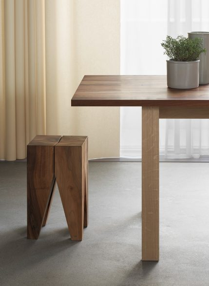 e15 Living Edge Philipp Mainzer Basis Trestles and Beams stool