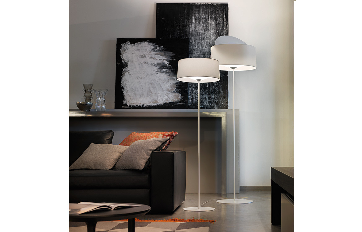 Espo Lighting Disk floor lamp white
