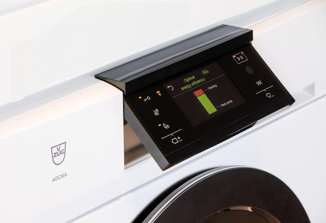 V-ZUG washing machine in energy efficiency mode