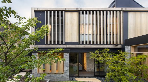 The back facade of Orient Street House by Philip Stejskal