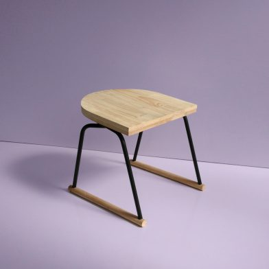 Rachel Vosila Small Wood Metal Chair