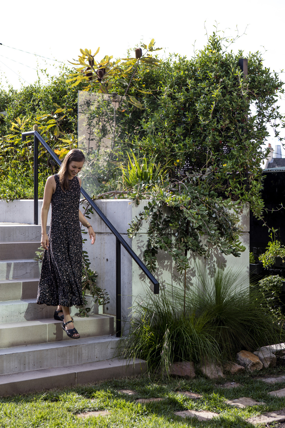 Screen House Photography by Brett Boardman Backyard stairs