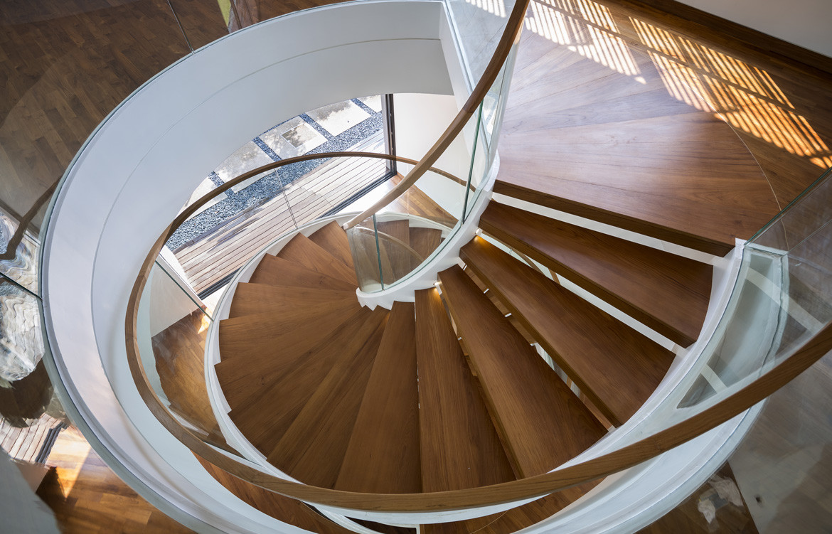See Through House Photography by Marc Tey Staircase