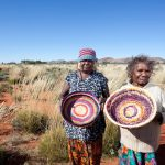 Tjanpi Desert Weavers Photography by Rhett Hammerton Nancy Jackson and Mrs Burke from Warakurna