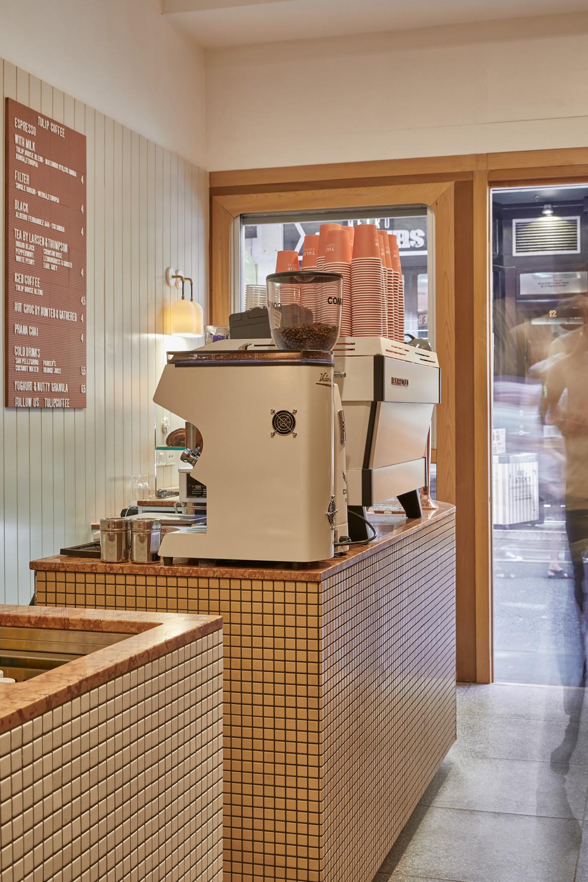 Tulip Cafe CoLab Design Studio Booth Coffee machine