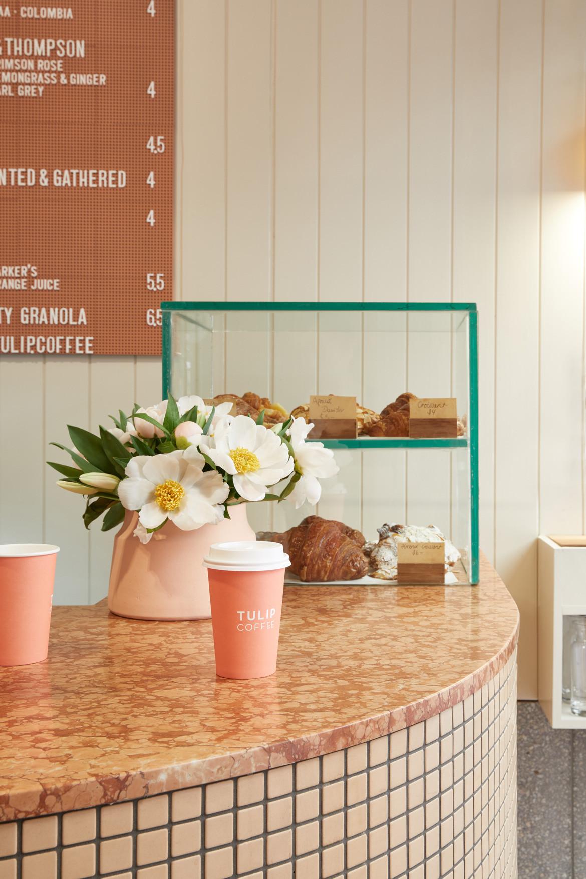Tulip Cafe CoLab Design Studio Booth Countertop