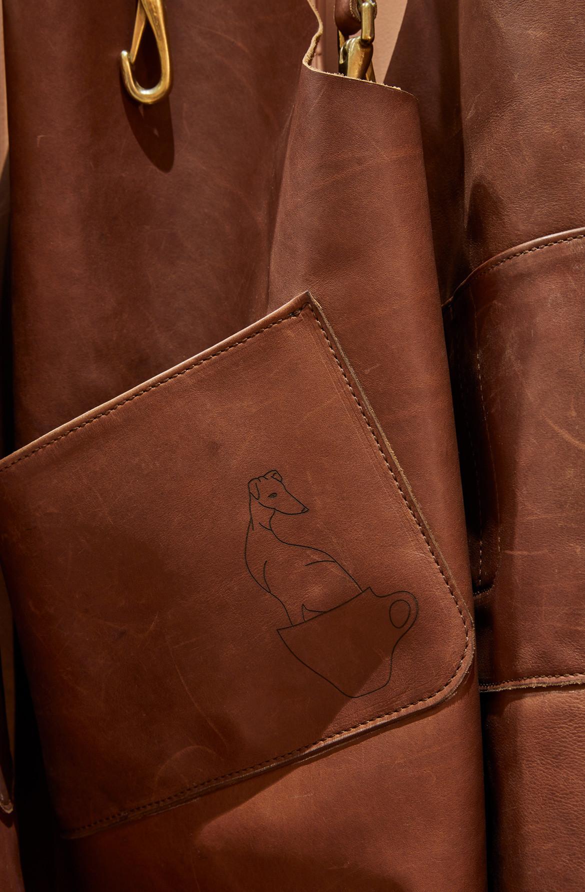 Tulip Cafe CoLab Design Studio Booth Leather detail