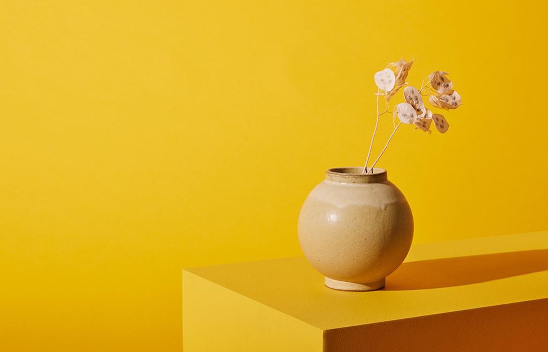 yellow Luna Vase
